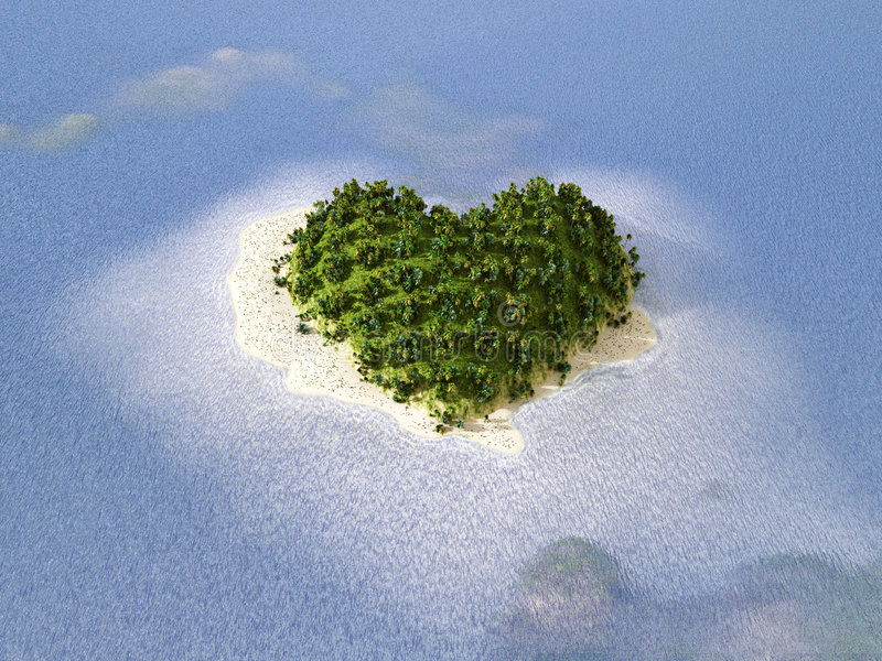 Tropisch paradijs, huwelijksreis stock fotografie