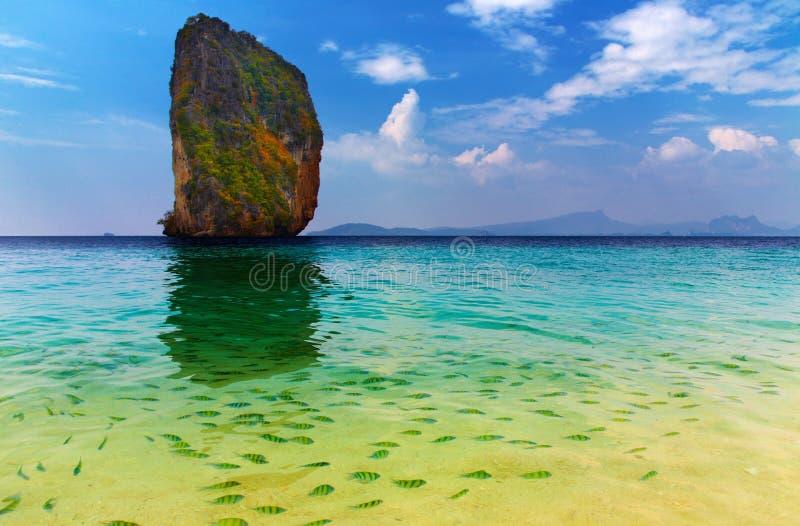 Tropisch paradijs, Poda Eiland, Thailand stock afbeelding