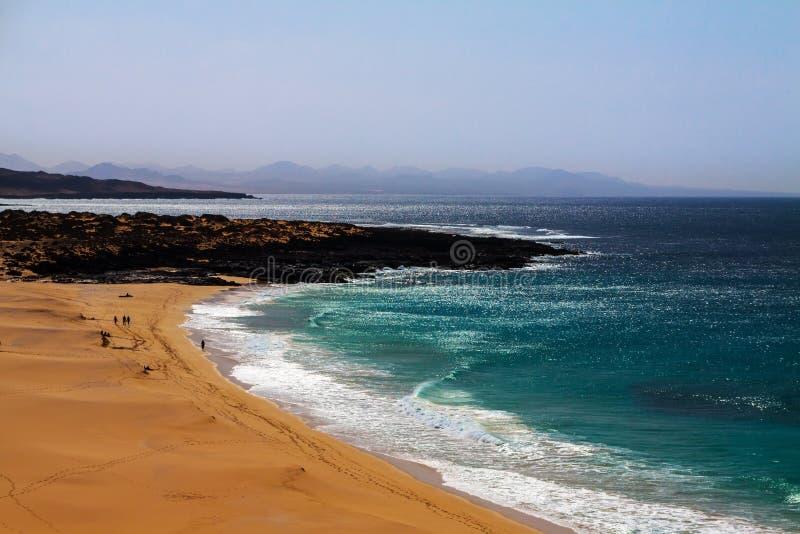 Tropisch paradijsstrand van Kanarie royalty-vrije stock afbeeldingen