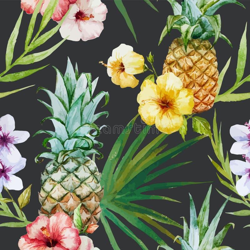 Tropisch patroon royalty-vrije illustratie