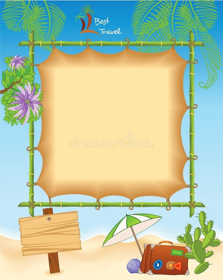 Tropisch Reismalplaatje stock illustratie