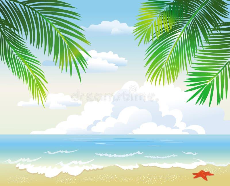 Tropisch strand vector illustratie