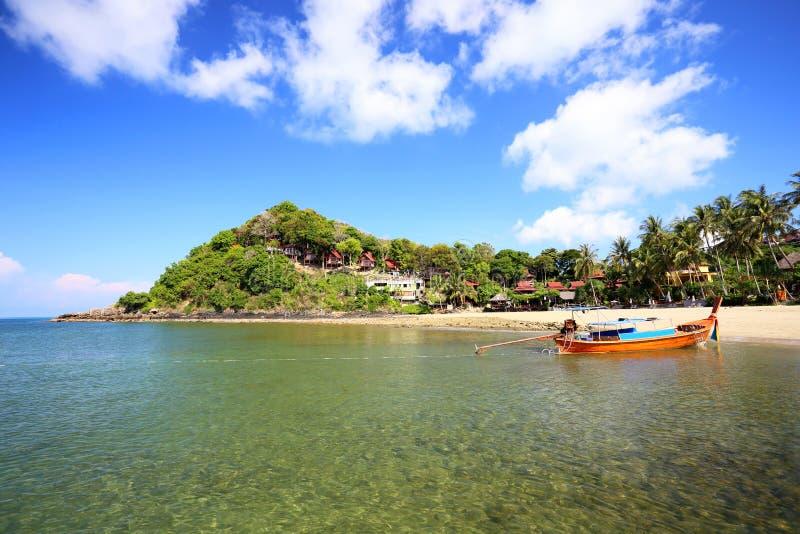 Tropisch strand, Andaman-Overzees, koh Lanta royalty-vrije stock afbeelding