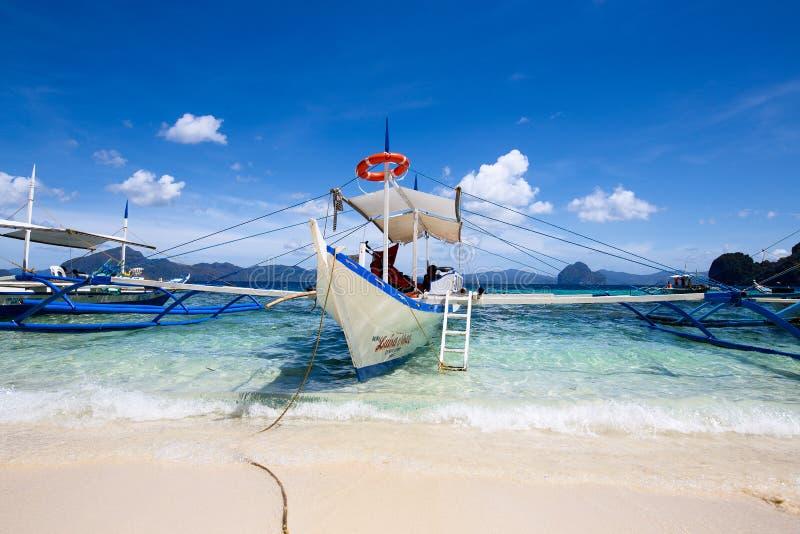 Tropisch strand in Gr Nido, Filippijnen royalty-vrije stock foto's