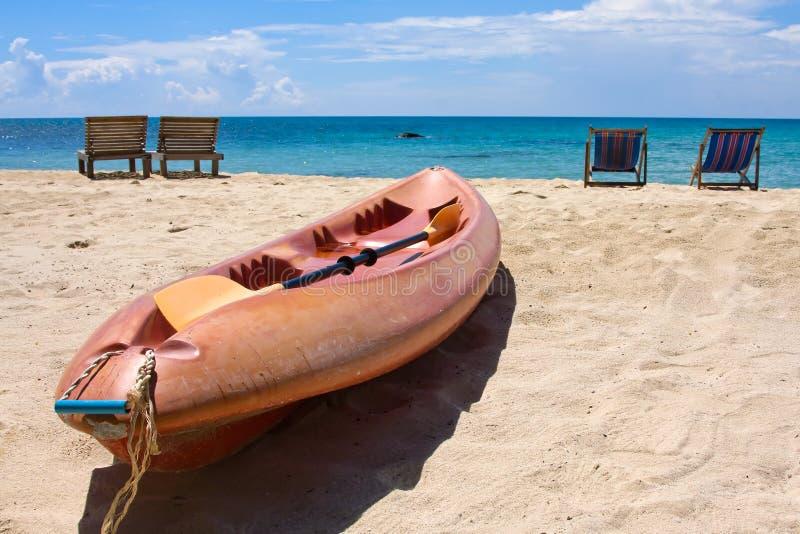 Tropisch strand, Thailand stock foto's