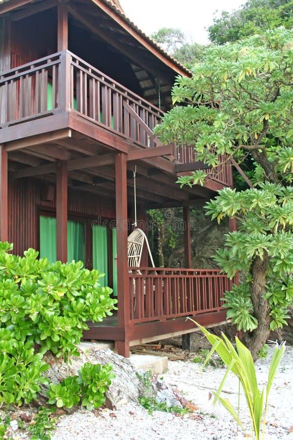 Tropisch strandhuis royalty-vrije stock fotografie