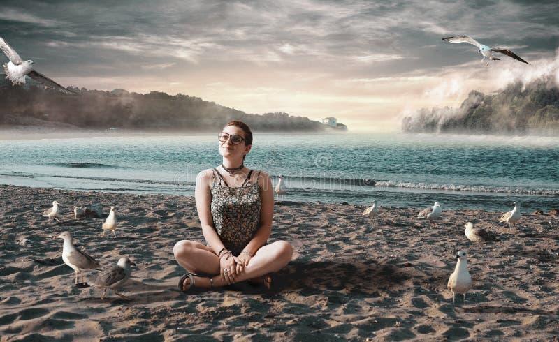 Tropisch surreal strand royalty-vrije stock fotografie