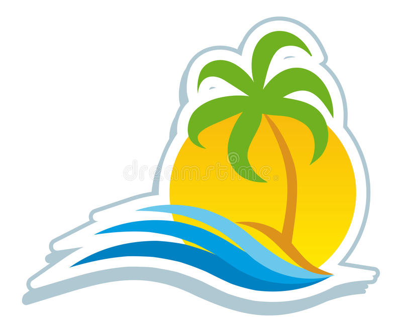 Tropisch symbool royalty-vrije illustratie