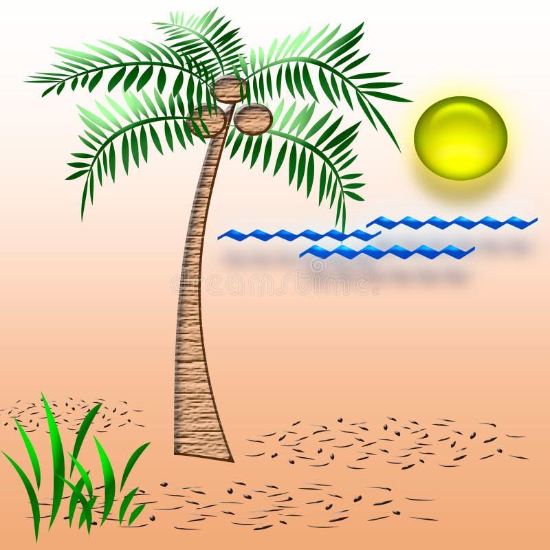 Tropisch vakantieart. vector illustratie