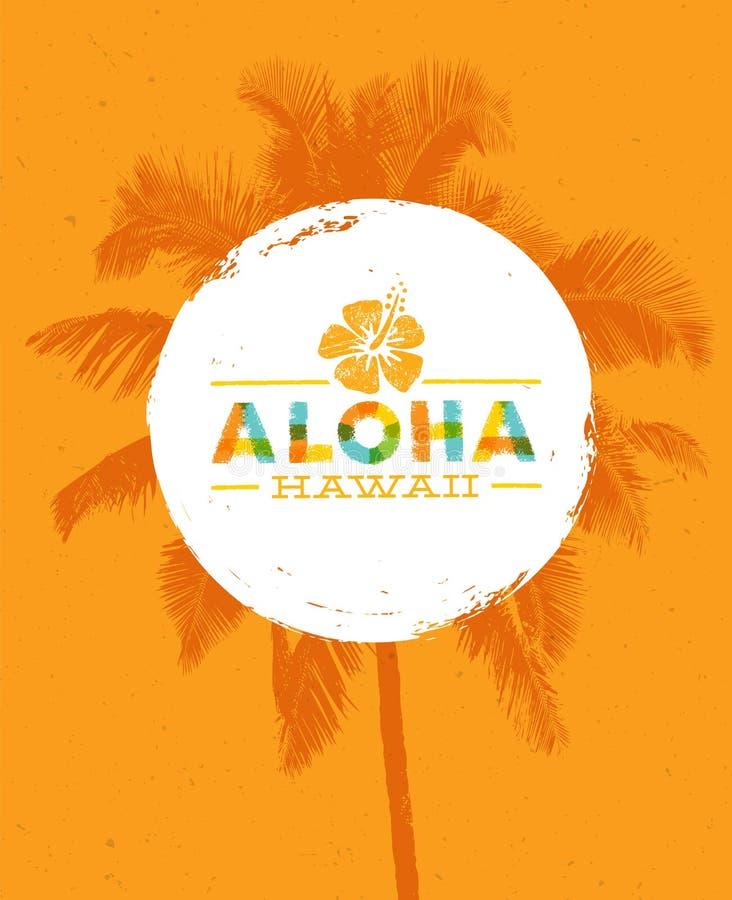 Tropisch Vector het Ontwerpelement van Aloha Hawaii Creative Summer Beach royalty-vrije illustratie