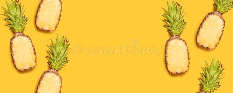 Tropische abstracte achtergrond Naadloos patroon met ananas stock fotografie