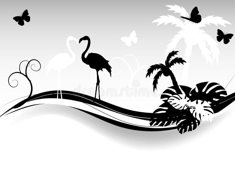 Tropische achtergrond vector illustratie