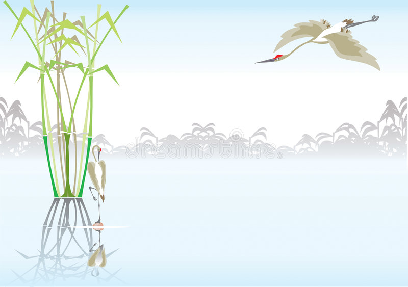 Tropische achtergrond stock illustratie