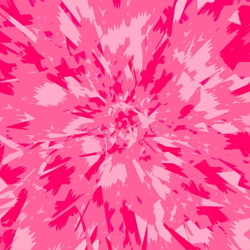 Tropische achtergrond Abstracte witte en roze kleurenexplosie Zonnestraal roze rozet met afwisselende stralen royalty-vrije illustratie