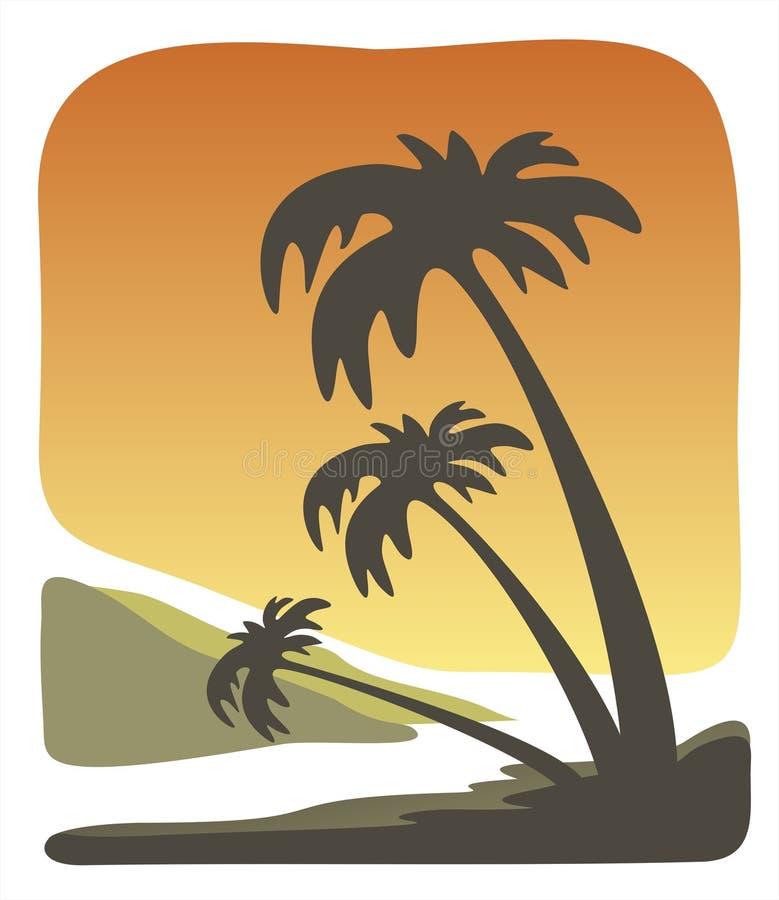 Tropische avond vector illustratie