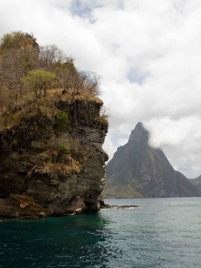 Tropische Bergen royalty-vrije stock afbeeldingen
