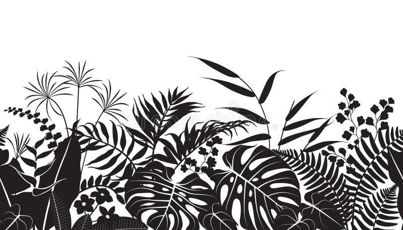 Tropische Betriebsschattenbild-Muster vektor abbildung