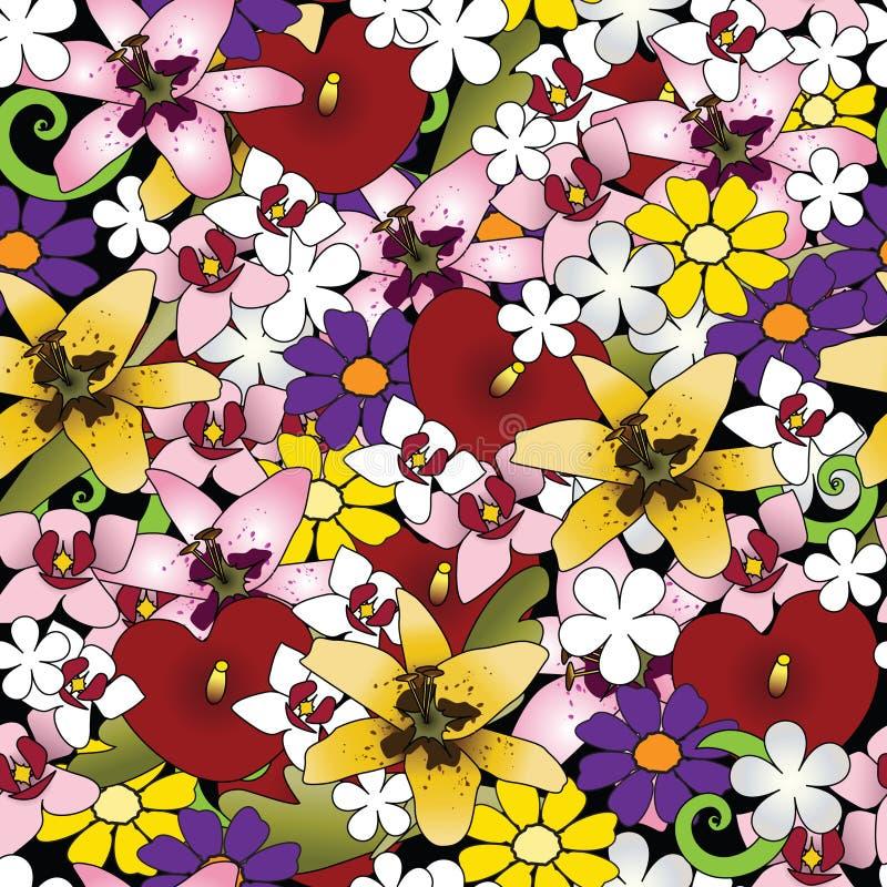 Tropische bloemachtergrond royalty-vrije illustratie