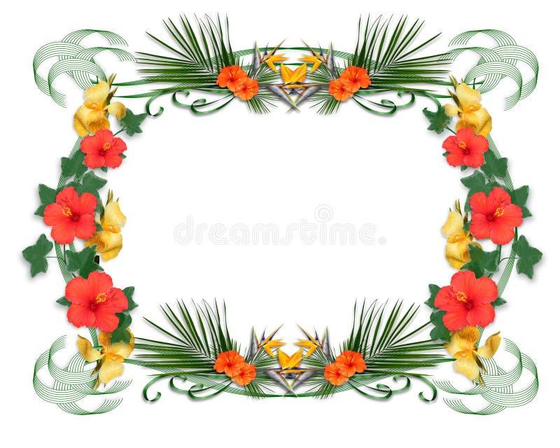 Tropische bloemengrens royalty-vrije illustratie