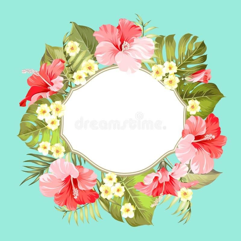 Tropische bloemkroon vector illustratie