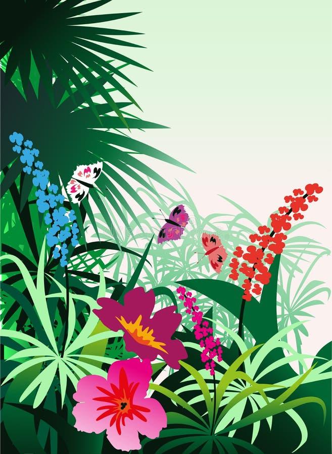 Tropische Blumen vektor abbildung