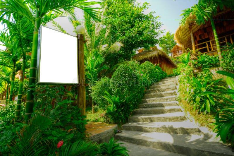 Tropische bungalowwen royalty-vrije stock afbeelding
