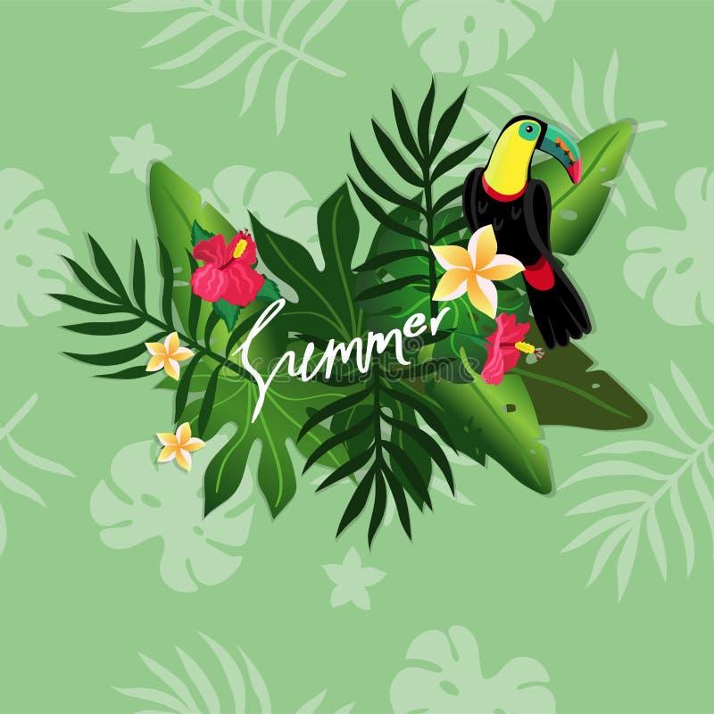 Tropische de zomerachtergrond stock illustratie