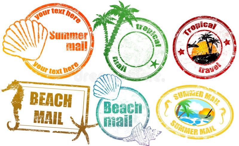 Tropische de zomerzegels