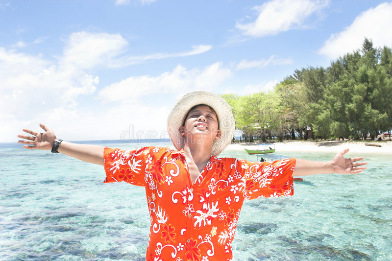 Tropische eilandvakantie royalty-vrije stock afbeeldingen