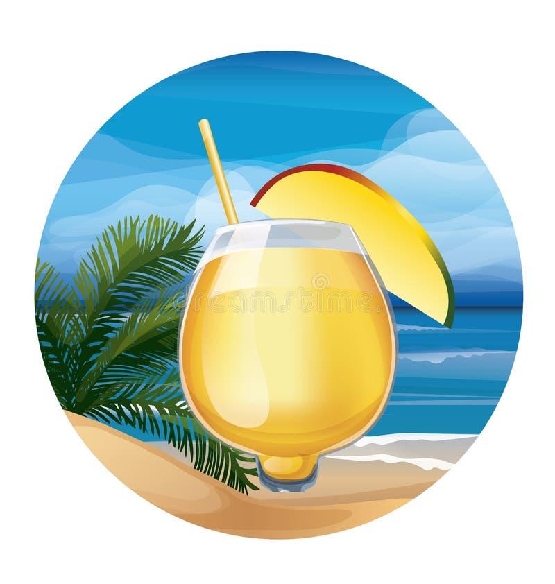 Tropische exotische cocktail royalty-vrije illustratie