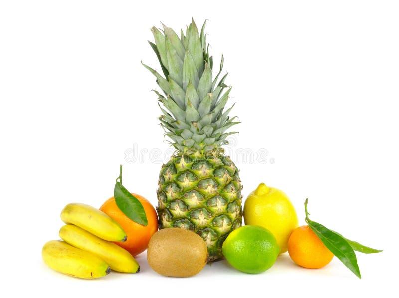 Tropische geïsoleerde vruchten stock foto