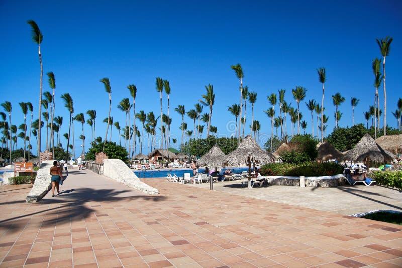 Tropische het hoteltoevlucht van de luxe royalty-vrije stock foto
