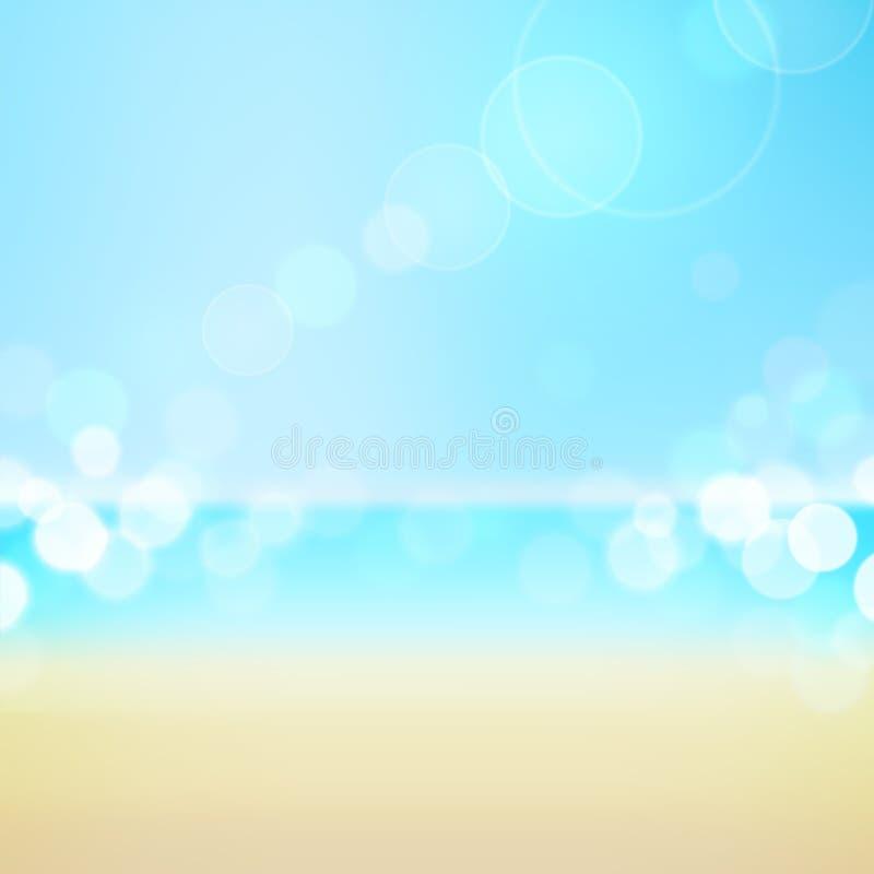 Tropische het strandachtergrond van de de zomervakantie royalty-vrije illustratie