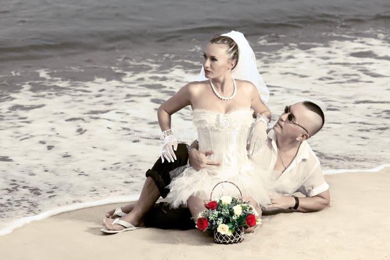 Tropische Hochzeit stockfoto