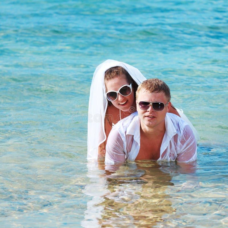 Tropische Hochzeit lizenzfreies stockbild