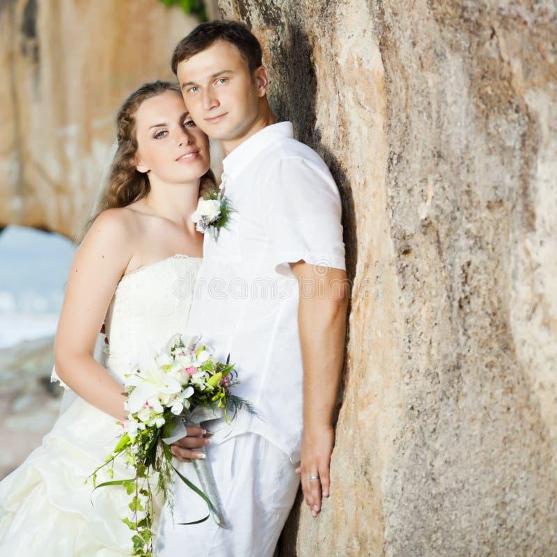 Tropische Hochzeit lizenzfreies stockfoto