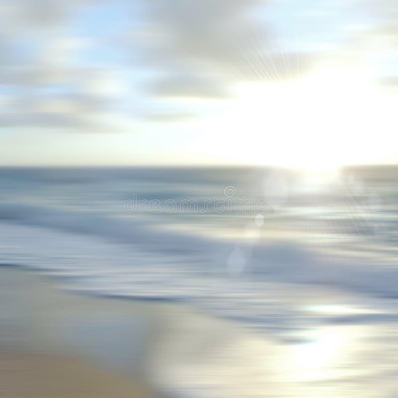 Tropische horizon abstracte achtergrond royalty-vrije stock afbeeldingen