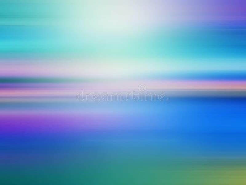 Tropische horizon abstracte achtergrond vector illustratie
