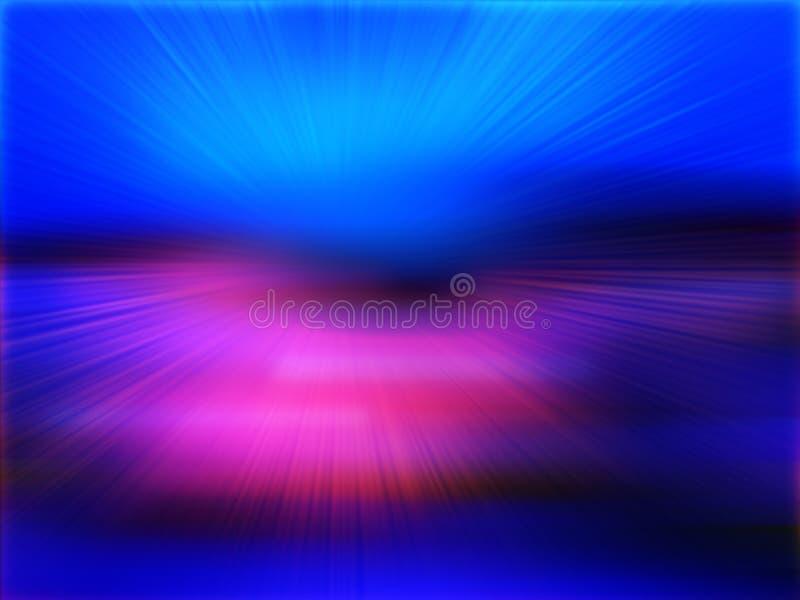 Tropische horizon abstracte blauwe achtergrond stock illustratie