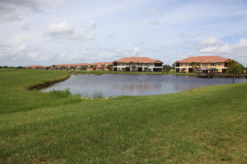 Tropische Huizen stock afbeeldingen