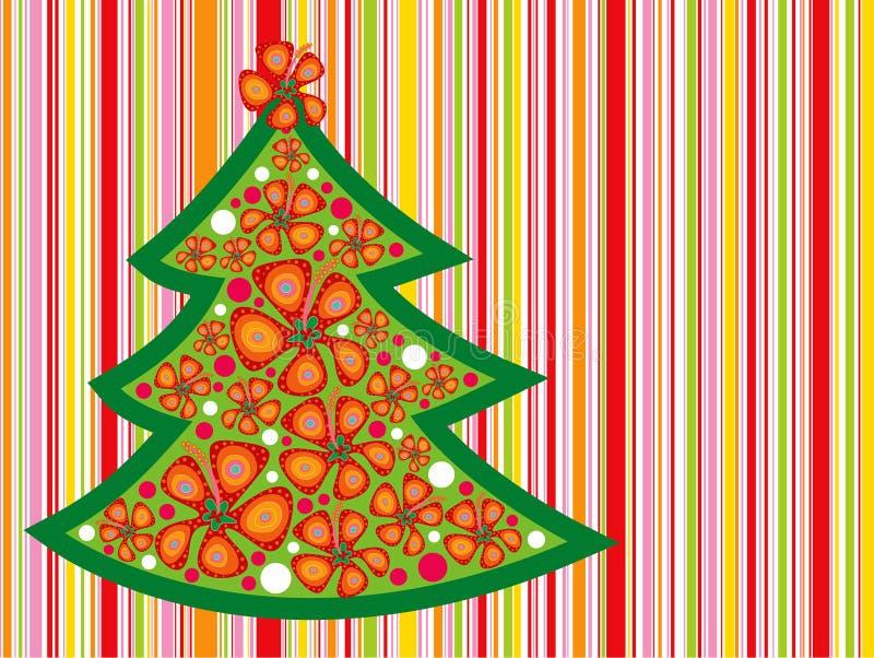 Tropische Kerstmisboom royalty-vrije illustratie