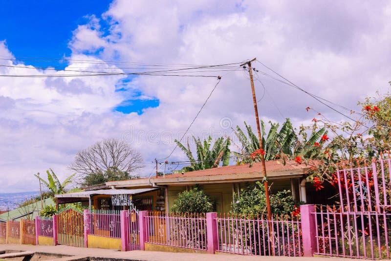 Tropische Landreise der ländlichen Straße stockbilder