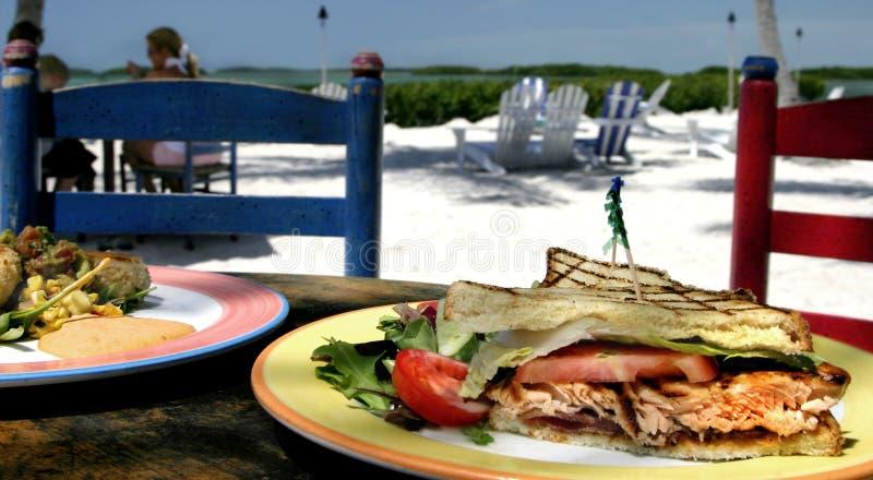 Tropische Lunch royalty-vrije stock foto's