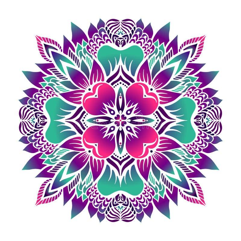 Tropische mandala Vector illustratie royalty-vrije illustratie