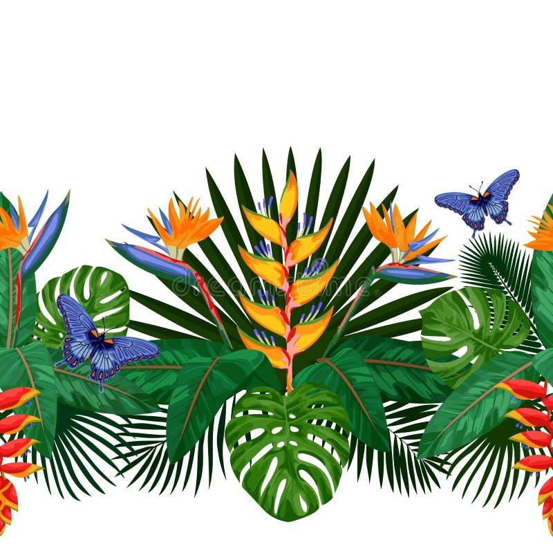 Tropische nahtlose Grenze stock abbildung