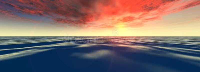 Download Tropische Overzees stock illustratie. Afbeelding bestaande uit avond - 27818