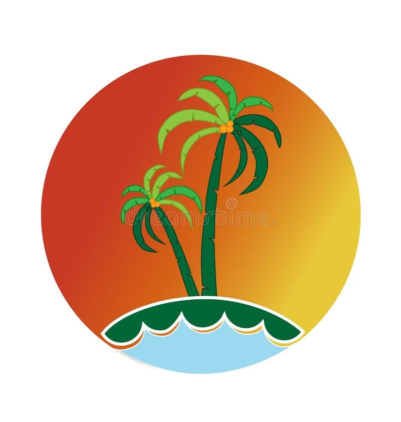 Tropische Palm royalty-vrije illustratie