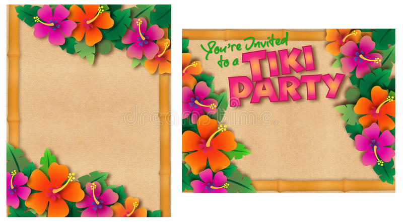 Tropische Partyeinladung lizenzfreie abbildung