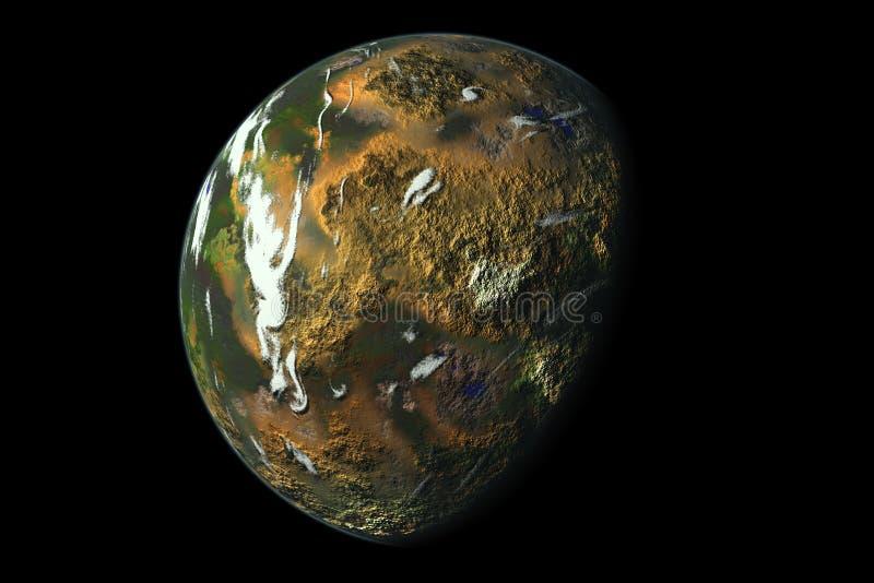 Tropische planeet royalty-vrije illustratie