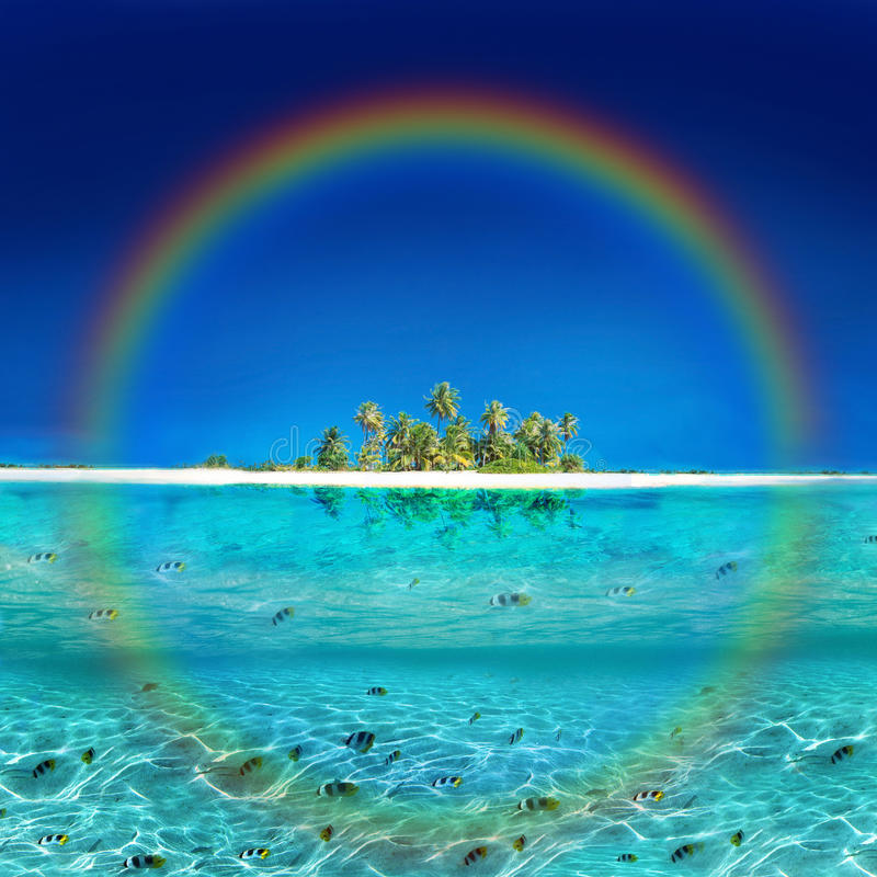 Tropische Regenbogen-Insel stockfotografie